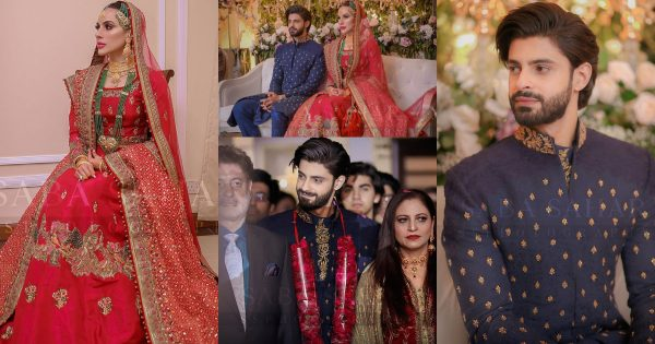 Beautiful Clicks from Actor Saad Qureshi's Wedding Ceremony