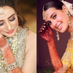 Pakistani Celebrity Brides Beautiful Mehndi Designs