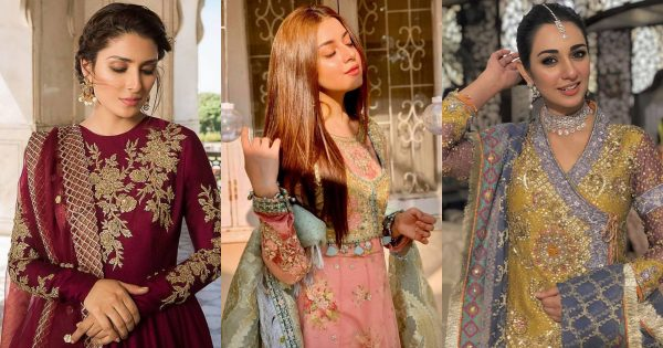 Beautiful Dresses Worn By Pakistani Actresses on Different Occasions