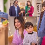 Shees Gul Aka Roomi from Mere Pass Tum Ho & Dua Malik With Her Son in Nida Yasir Morning Show