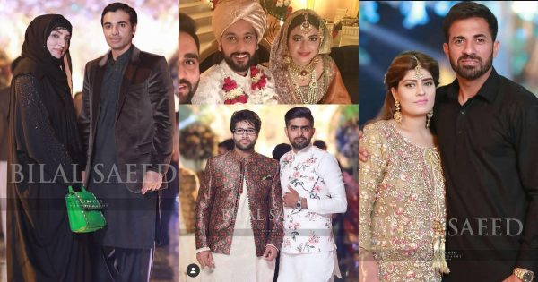 Latest Clicks of Pakistani Cricketers with their Family at Wedding of Wahab Riaz Sister