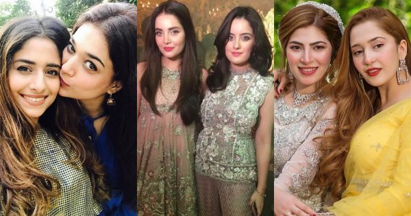 Latest Pictures of Pakistani Actresses with Their Beautiful Sisters