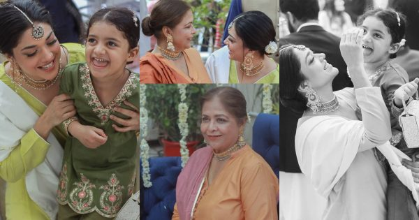 Beautiful Clicks of Sanam Jung with her Mother and Daughter