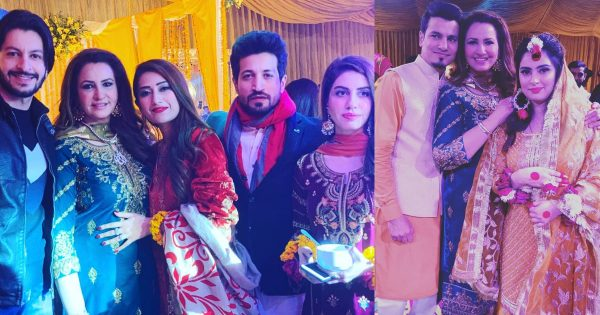 Latest Clicks of Saba Faisal with her Family at a Recent Wedding Event
