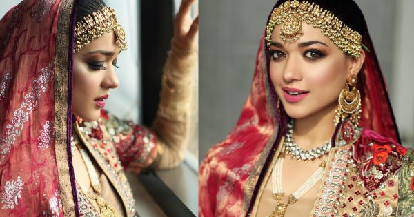 Beautiful Clicks from Bridal Photo Shoot of Sanam Jung for Sabs The Salon