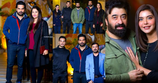 Beautiful Pictures of Humayun Saeed with his Wife at Yasir and Arsalan Restaurant The Forest