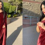 Beautiful Sarah Khan Saree Pictures from the Set of her Upcoming Drama