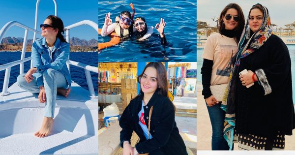 Latest Beautiful Pictures of Minal Khan with her Mother from Egypt