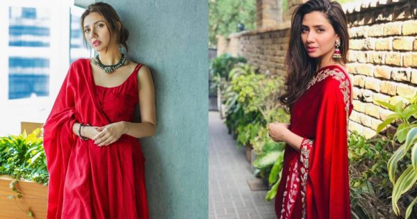 Mahira Khan's Most Beautiful Pictures in Red Outfit