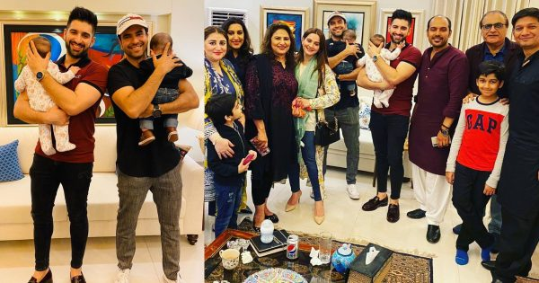 Latest Pictures of Muneeb Butt and Junaid Khan with their Kids and Wives at a Dinner