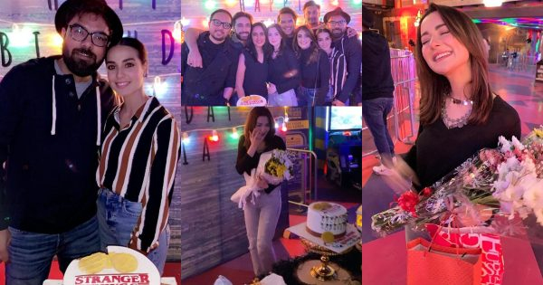 Surprise Birthday Party of Hania Aamir Hosted by Asim Azhar
