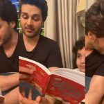 Ahsan Khan Spending Quality Times with His Kids Reading Quranic Stories