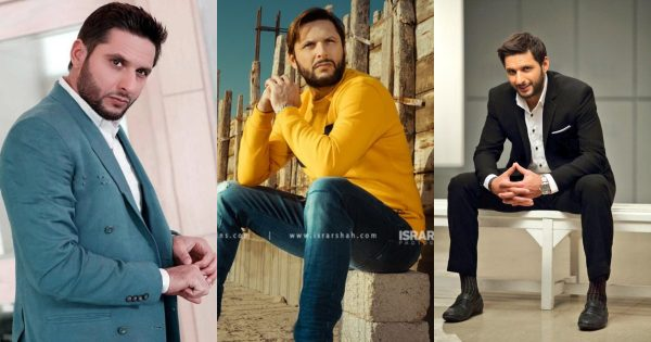 Cricketer Shahid Afridi Photo Shoots in Which He looks Handsome