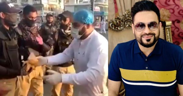 Dr.Aamir Liaquat is Distributing Own Made Biryani to Police Staff During Quarantine