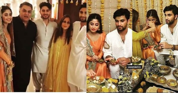 Beautiful Mayoun and Mehndi Rasm Pictures of Sajal and Ahad