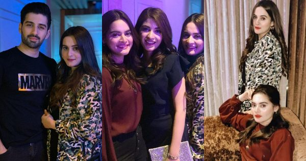Beautiful Latest Clicks of Aiman Khan, Minal Khan and Muneeb Butt from a Birthday Party