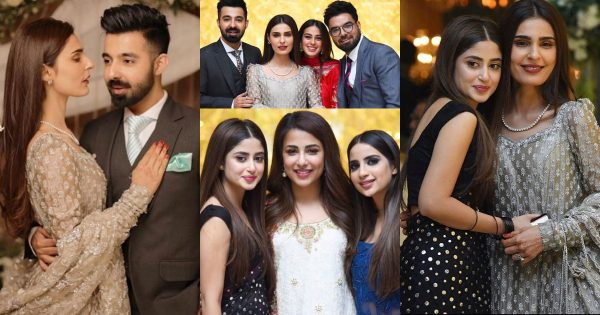 Beautiful Pictures from Walima Reception of Sadia Ghaffar and Hassan Hayat