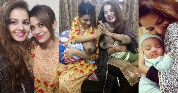 Latest Clicks of Actresses Benita David and Ishaa Noor with their New Born Sons
