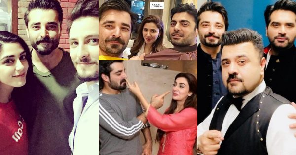 Beautiful Pictures of Hamza Ali Abbasi with his Showbiz Friends