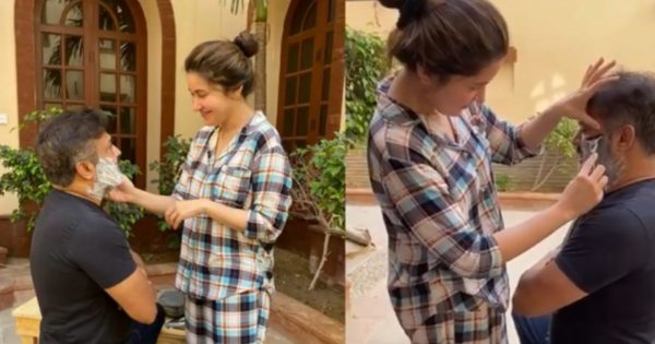 Video of Shaista Lodhi Making Shave of her Husband Gone Viral
