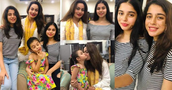 Latest Beautiful Pictures of Sadia Imam's with her Daughter and Niece's
