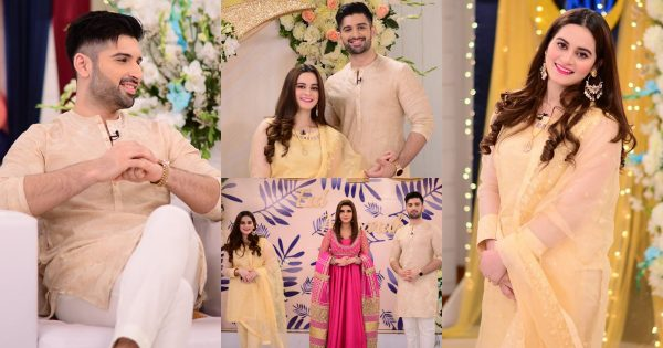 Beautiful Pictures of Aiman Khan and Muneeb Butt From GMP Eid Special Show