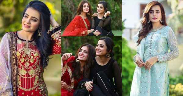 Latest Beautiful Clicks of Sumbul Iqbal with her Sister Kompal Iqbal