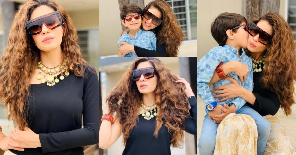 Latest Beautiful Pictures of Actress Sadia Faisal with Her Son
