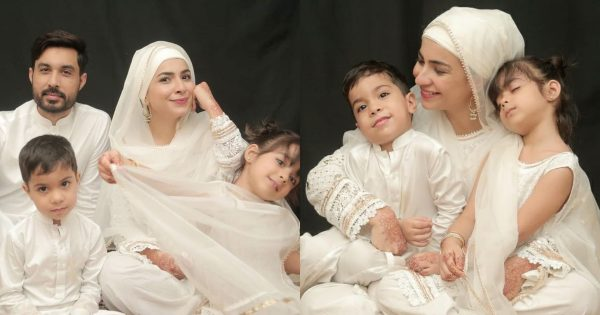 Latest Beautiful Pictures of Dua Malik with her Family