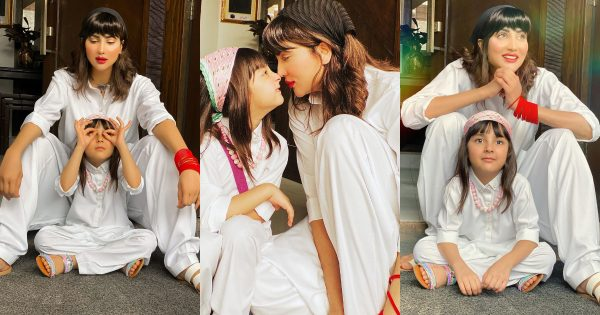 Actress Fiza Ali Latest Pictures with her Cute Daughter in White Dress