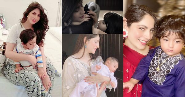 Beautiful Pictures of Neelam Muneer with her Niece and Nephew