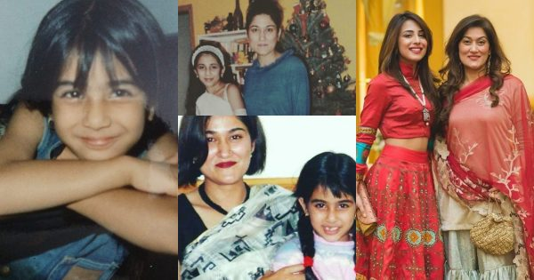 Beautiful Childhood Pictures of Actress Ushna Shah with her Sister