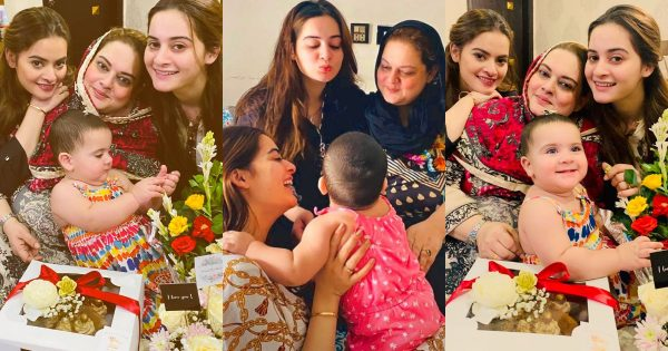 Aiman Khan and Minal Khan Mother's Birthday Pictures