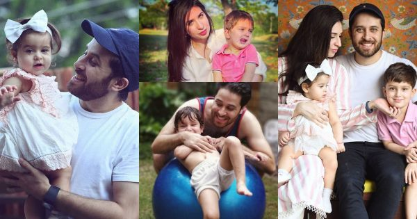 Latest Pictures of Haroon Shahid with his Wife and Kids
