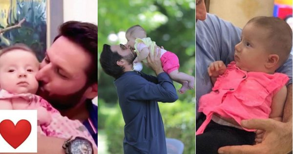 Beautiful Clicks of Shahid Afridi With his Youngest Daughter Arwa