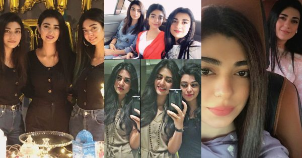 Beautiful Pictures of Sarah Khan with her Sister Aisha Khan