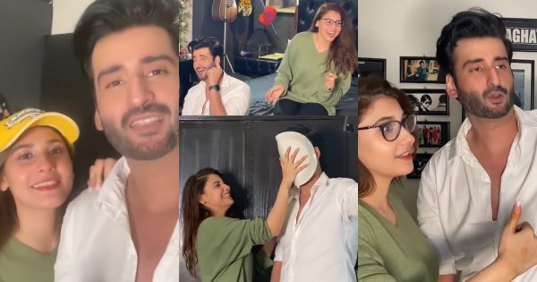 Latest Pictures and Video of Hina Altaf and Agha Ali after Wedding