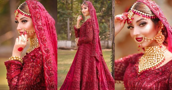 Beautiful Bridal Photo Shoot of Gorgeous Actress Kinza Hashmi