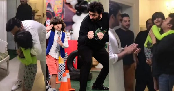 Yasir Nawaz's Son Balaaj And Humayun Saeed Beautiful Cute Video