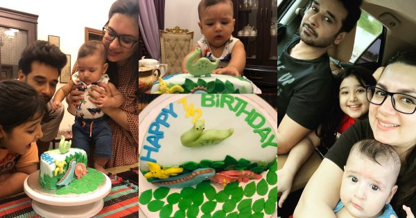 Faysal Qureshi Celebrating his Son Six Month Birthday with Family