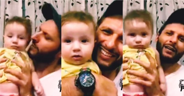 Adorable Beautiful Video of Shahid Afridi with her Cute Daughter