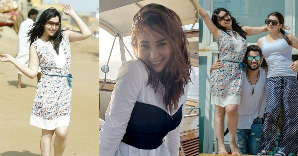 Latest Clicks of Komal Rizvi from Beach with her Family