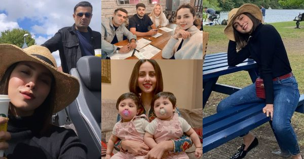 Latest Pictures of Nimra Khan with her Husband from London