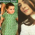 Cute Pictures of Aiman Khan Daughter Amal on Independence Day