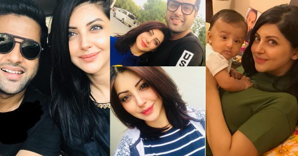 Latest Clicks of Moomal Khalid with her Husband and Baby