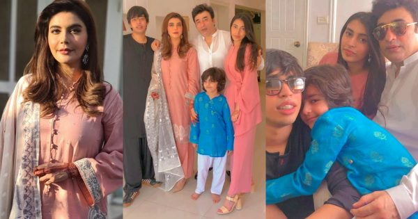 Beautiful Eid Pictures of Nida and Yasir Nawaz with Kids