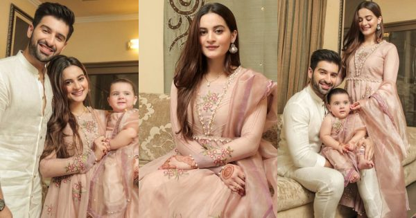 Aiman Khan And Muneeb with Daughter Amal – Eid Pictures