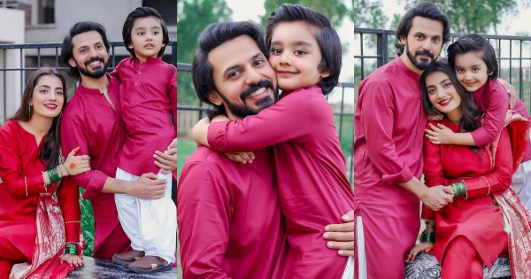 Bilal Qureshi And Uroosa Bilal Celebrating Eid-ul-Adha
