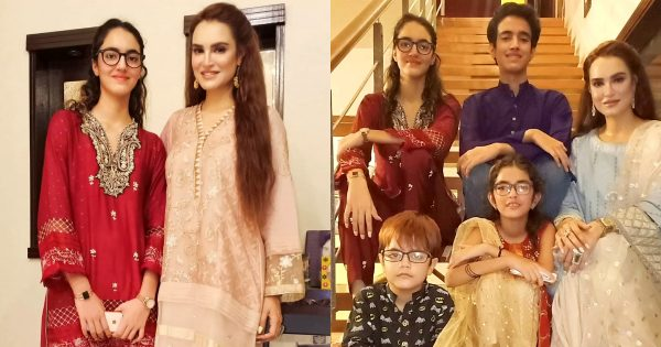 Latest Pictures of Nadia Hussain with Family