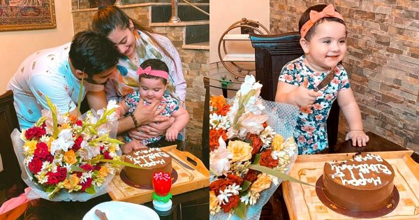 Aiman Khan and Muneeb Daughter Amal First Birthday Pictures